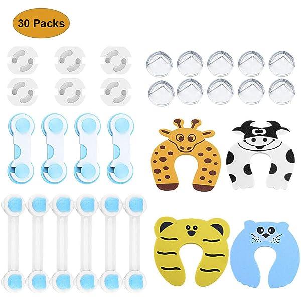 42 Pcs Kit de Seguridad para Bebés, (20 Protector Enchufes ...