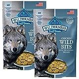 BLUE Wilderness Trail Treats Grain-Free Wild Bits Chicken Recipe Dog Treats 4-oz, Chicken Recipe / 2 Pack