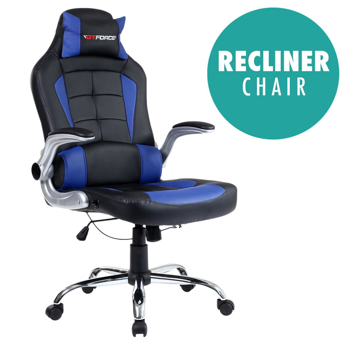 reclining computer desk chair style pu bucket race leather itm seat office executive recliner