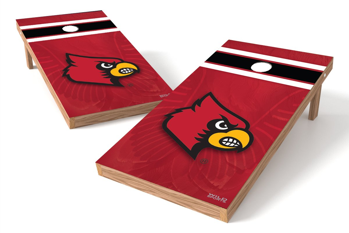 Wild Sports NCAA College Louisville Cardinals 2' x 4' Authentic Cornhole Game Set