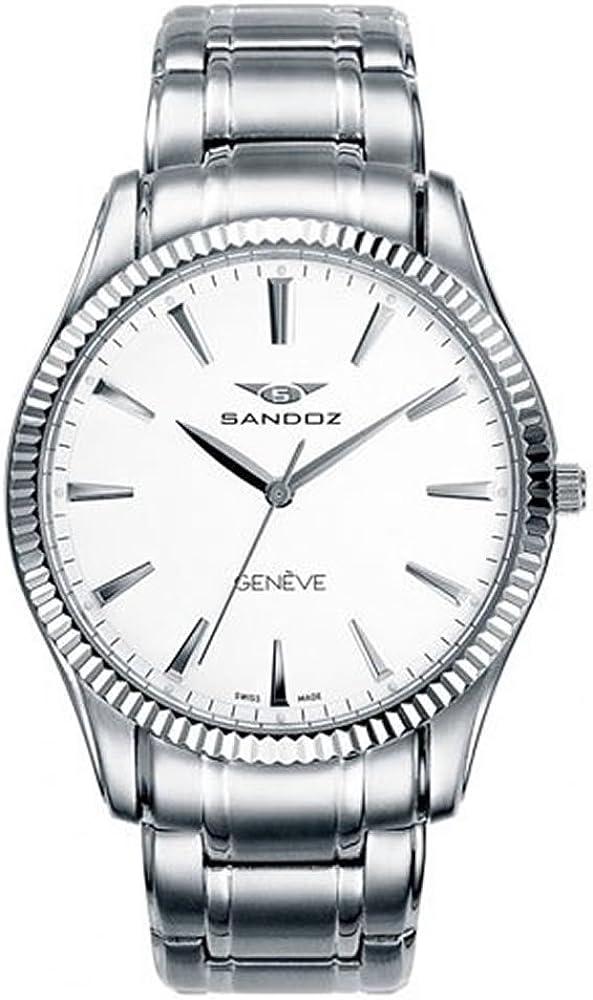 SANDOZ CLASSIC & SLIM 81357-00. Reloj suizo extraplano, de hombre, con cristal de zafiro irrayable.