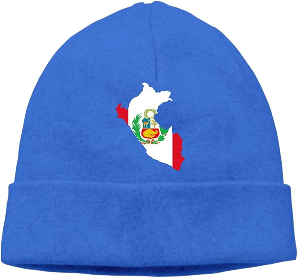 Soft Skiing Cap BF5Y3z/&MA Mens and Womens Peru Map Knitted Hat