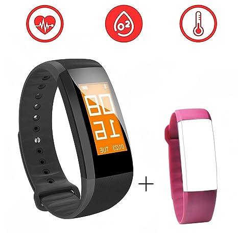 Rastreador de actividad Fitness Tracker reloj inteligente salud con pantalla táctil Slim para paso Distancia Calorías