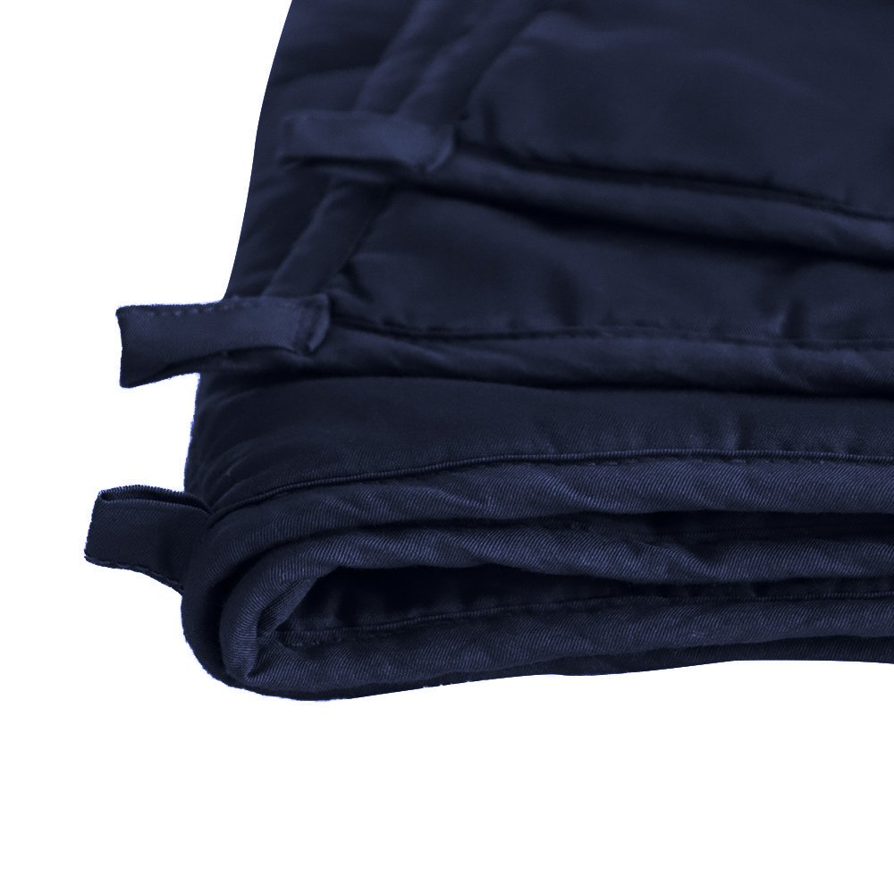 Weighted Idea Weighted Blanket | 41''x60'' | 7 lbs for for 50-90 lbs individuals | Navy Blue | Summer for Youth and Kids | Occupational Therapy for Anxiety, Insomnia, Autism, ADHD | Twin/Full Size by Weighted Idea (Image #5)