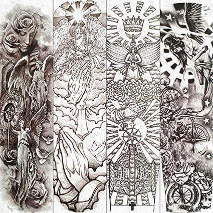 Etiqueta Engomada Del Tatuaje Temporal Diosa De La Sabiduría ...