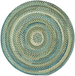 product image for Capel Rugs Kill Devil Hill Round Braided Area Rug, 8', Dark Green