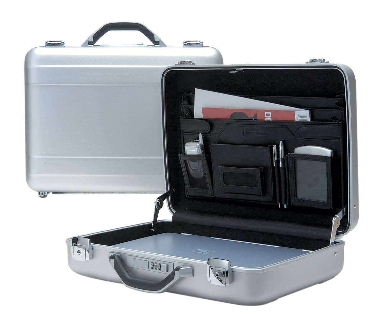 T.Z. Case Aluminum Briefcase, Attache Man, 18'' Hard-Sided Laptop Case in Silver by TZ Case