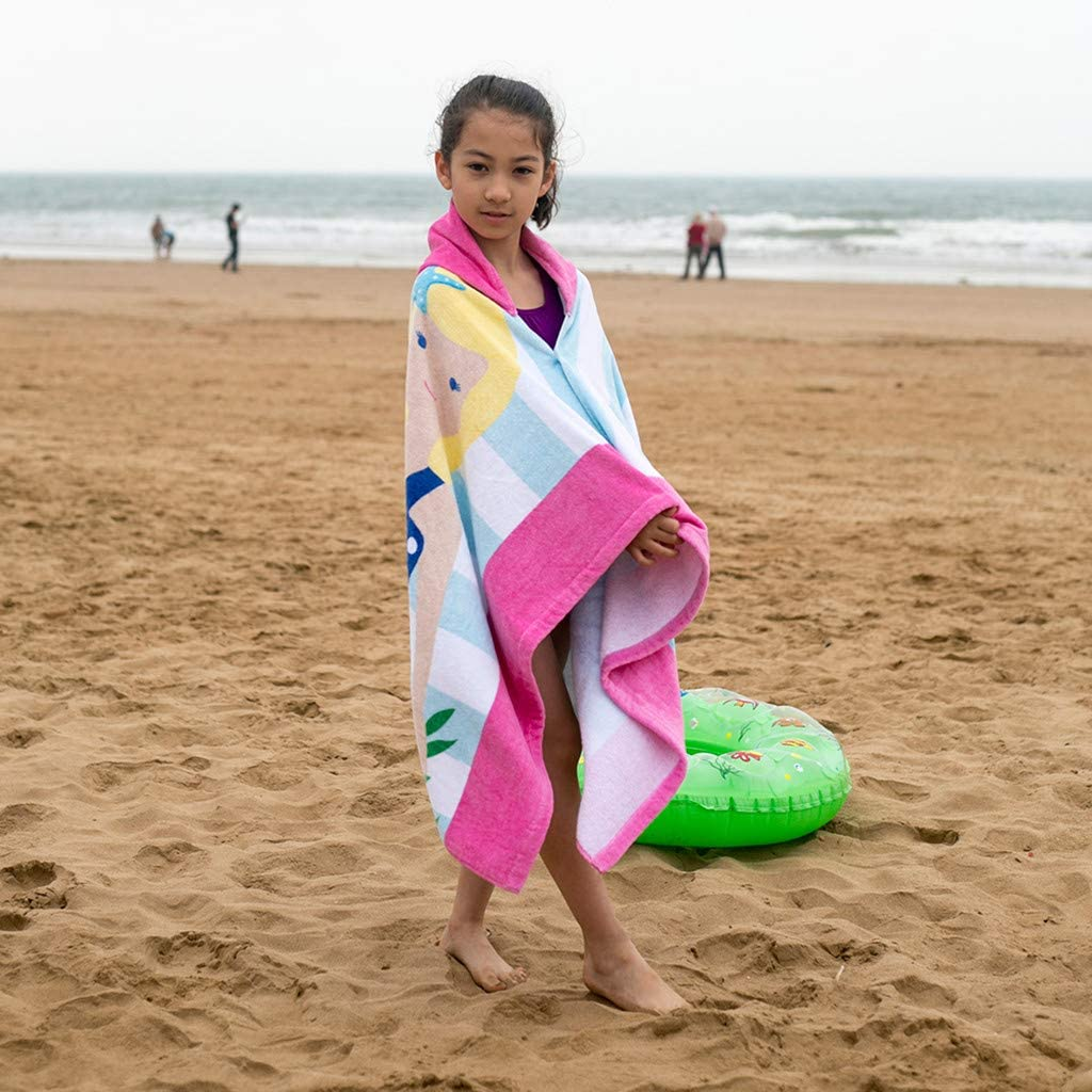 Drindf Baby Clothes Kids Hooded Beach Bath Towel Super Soft Childrens Towel Swimming Girls Boys Thicken Cloak