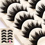 Thick 5 Pairs Makeup Natural False Eyelashes Eye Lash Long Black Handmade Soft