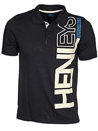 92d8ab365a6 Designer Mens Henleys Icemaker Polo Shirt Casual Collared Top Short Sleeved T  Shirt  Amazon.co.uk  Clothing