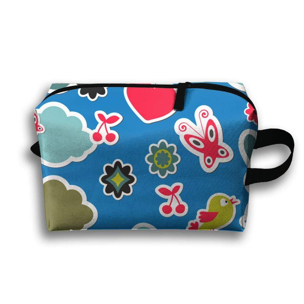 Hodfgiz Animal Label Toiletry Bag,Travel Bag Case,Packing Cubes,Handy Storage Bag by Hodfgiz