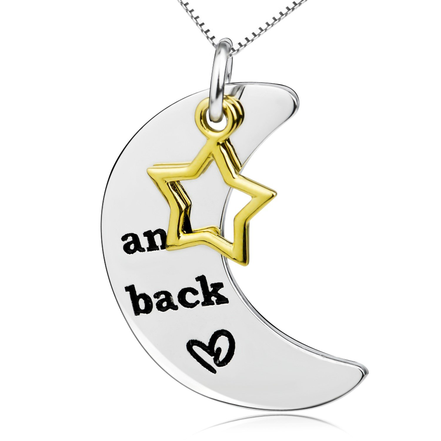 CS-DB Lovers Silver Necklaces Pendants I Love You to The Moon and Back Top Stylish