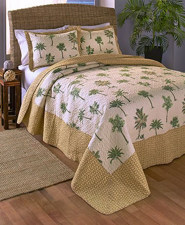3 Pc Themed Quilt Sets Palm Trees Full Queen Frenzystyle