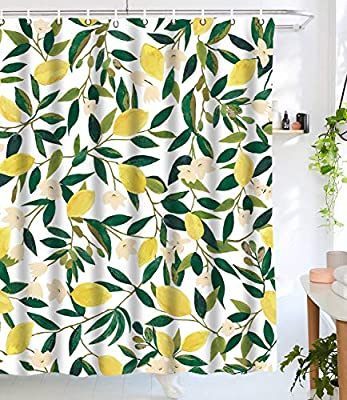 Marvelous Amazon Com Lifeel Lemon Shower Curtains Funny Fruit Design Gmtry Best Dining Table And Chair Ideas Images Gmtryco