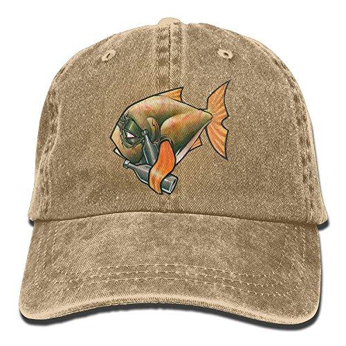 Men Women Drink Like A Fish Adjustable Jeans Baseball Cap Sun (Tro Freshwater Fish)