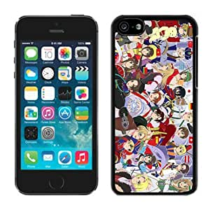 Hetalia Axis Powers Black iPhone 5c Screen Cover Case Unique and Fashion Design