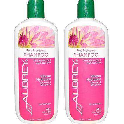 Aubrey Organics Rosa Mosqueta Shampoo Vibrant hidratación para todo tipo de cabello con aceite de semillas