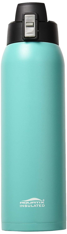 Aquatix (türkis, 32 Unze) Pure Edelstahl, doppelwandige Vakuum Isolierte Sport Wasser Flasche mit praktischer Flip Top – hält Getränke 24 Stunden kalt, Hot für 6 Stunden