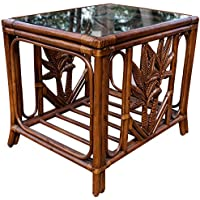 Hospitality Rattan Cancun Palm Rattan & Wicker End table