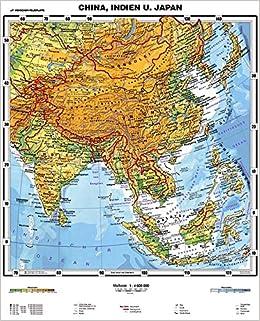 Japan Karte Physisch.Xxl 1 80 Meter Original Handgezeichnete China Indien