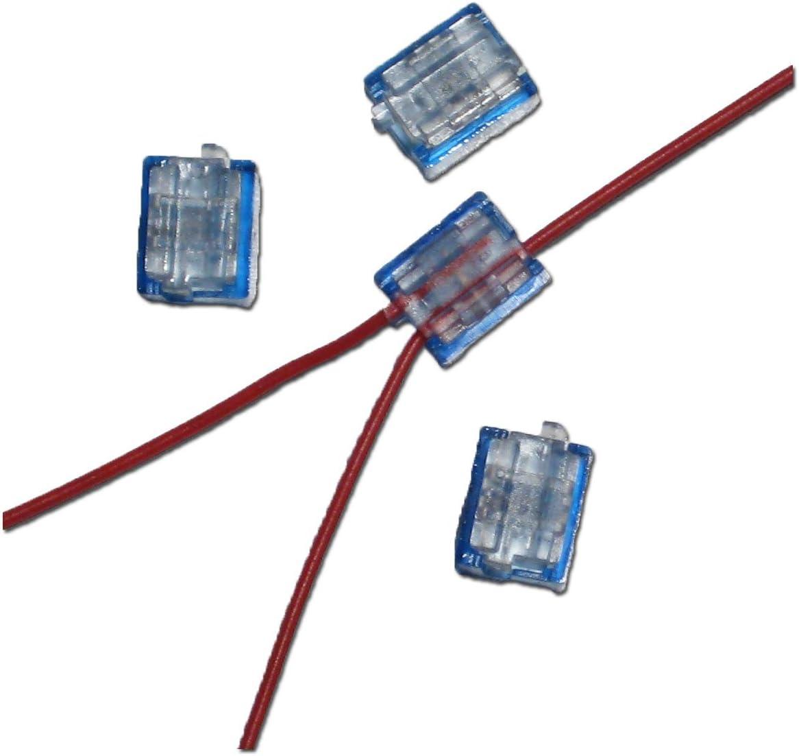12x Miniatur Abzweigverbinder blau 0,1 bis 0,9 mm/²