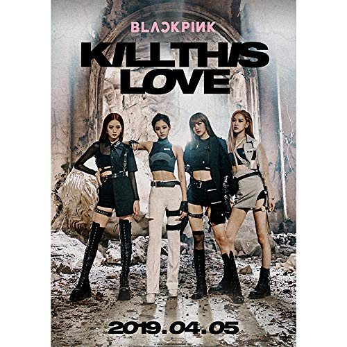 Youyouchard Kpop Blackpink New Album Kill This Love Poster Official Supported Poster for Blackpink Fans Collection, 16.5×11.8IN(H01)