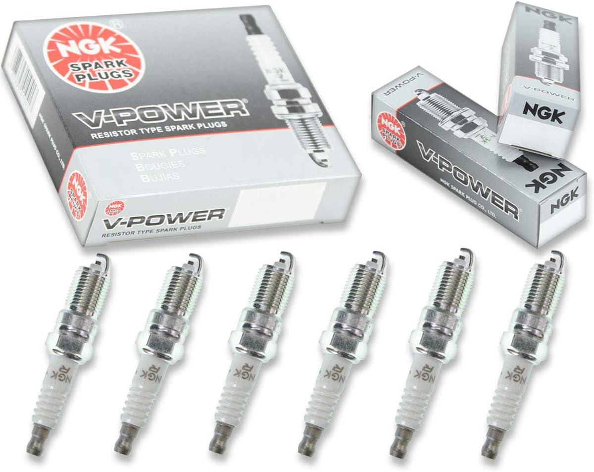 6 pcs NGK V-Power Spark Plugs for 1996-2005 GMC Safari 4.3L V6 Engine Kit th