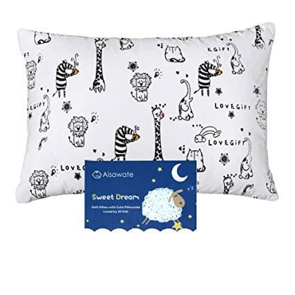 Toddler Pillow With Pillowcase 2 Pack 13 X 18 Inches Toddler Bedding Small Pillow With Soft Organic Cotton Cover For Unisex Kids Sleeping Bedding Nursery