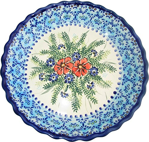 Boleslawiec Stoneware - Polish Pottery Pie Plate or Quiche Baker - Evas Collection  inchVeronica inch