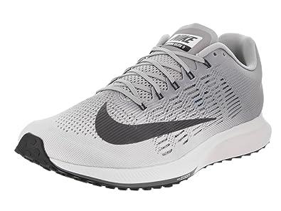 timeless design 62d7a 8c216 Amazon.com | NIKE Men's Air Zoom Elite 9 White/Dark Grey ...