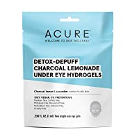 Acure Detox-Depuff Charcoal Lemonade Under Eye Hydrogels | 100% Vegan | For Oily...