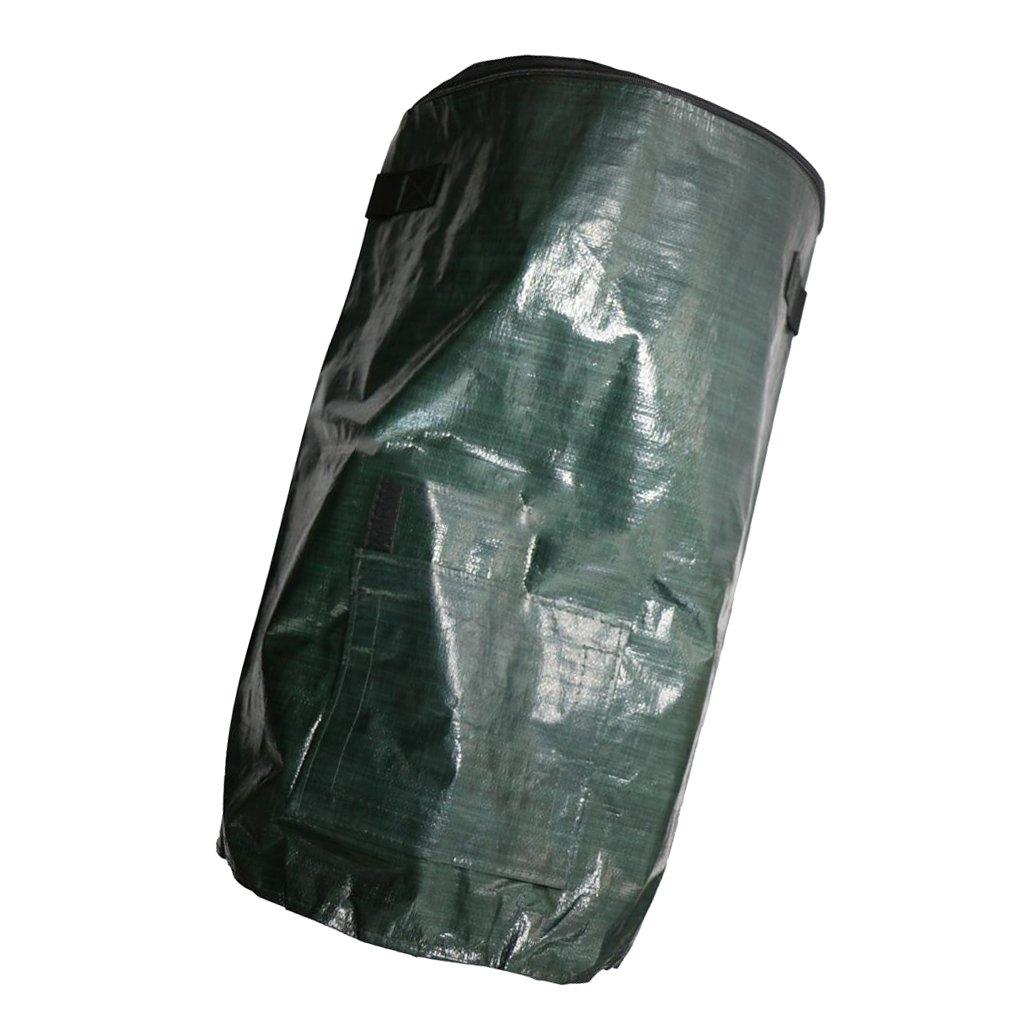 FLAMEER Premium Selbststehend Laubsäcke Gartensack mit Deckel und Reissverschluss für Kompost, Abfall, Plastik