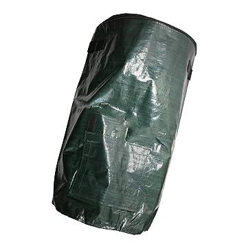 Abfall FLAMEER Premium Selbststehend Laubsäcke Gartensack mit Deckel und Reissverschluss für Kompost Plastik