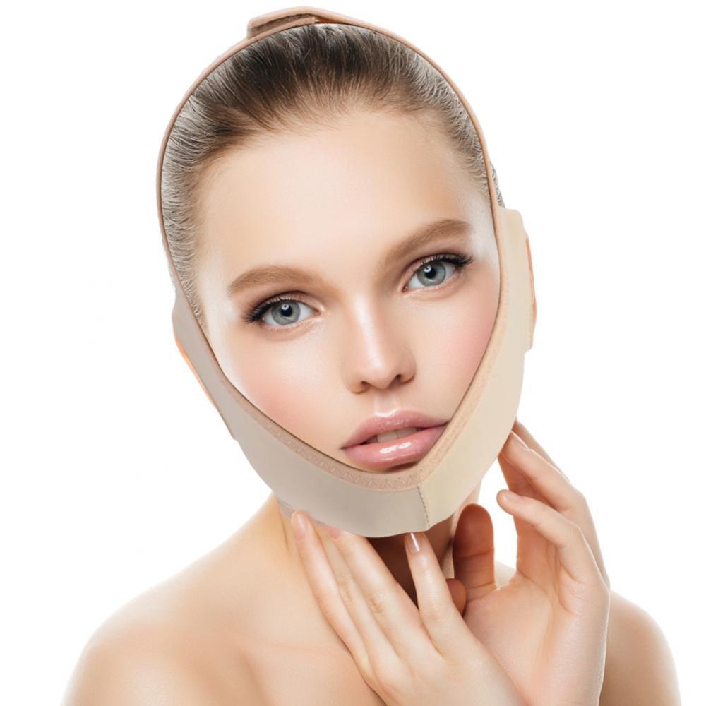 Masque facial amincissant, pince de soutien de cou Soulevez les pansements de ligne de visage Soin facial de double pansement de perte de poids de visage(S) Yotown