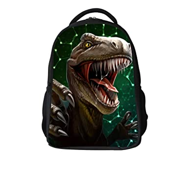 e0e3872ac148 Image Unavailable. Image not available for. Color  3D Print Childs School  Rucksack Laptop Computer Backpacks Dinosaur Backpack for Kids