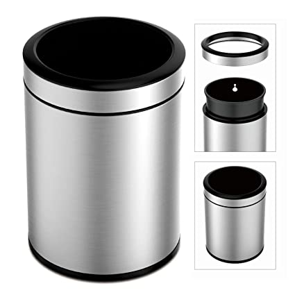 Amazon.com: TEXAS RAGTIME Stainless Steel Trash Can for ...