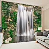 Wapel Custom Waterfall Landscape 3D Photo Blackout 3D Curtain For Living Room Bedroom Kids Room 260X320CM