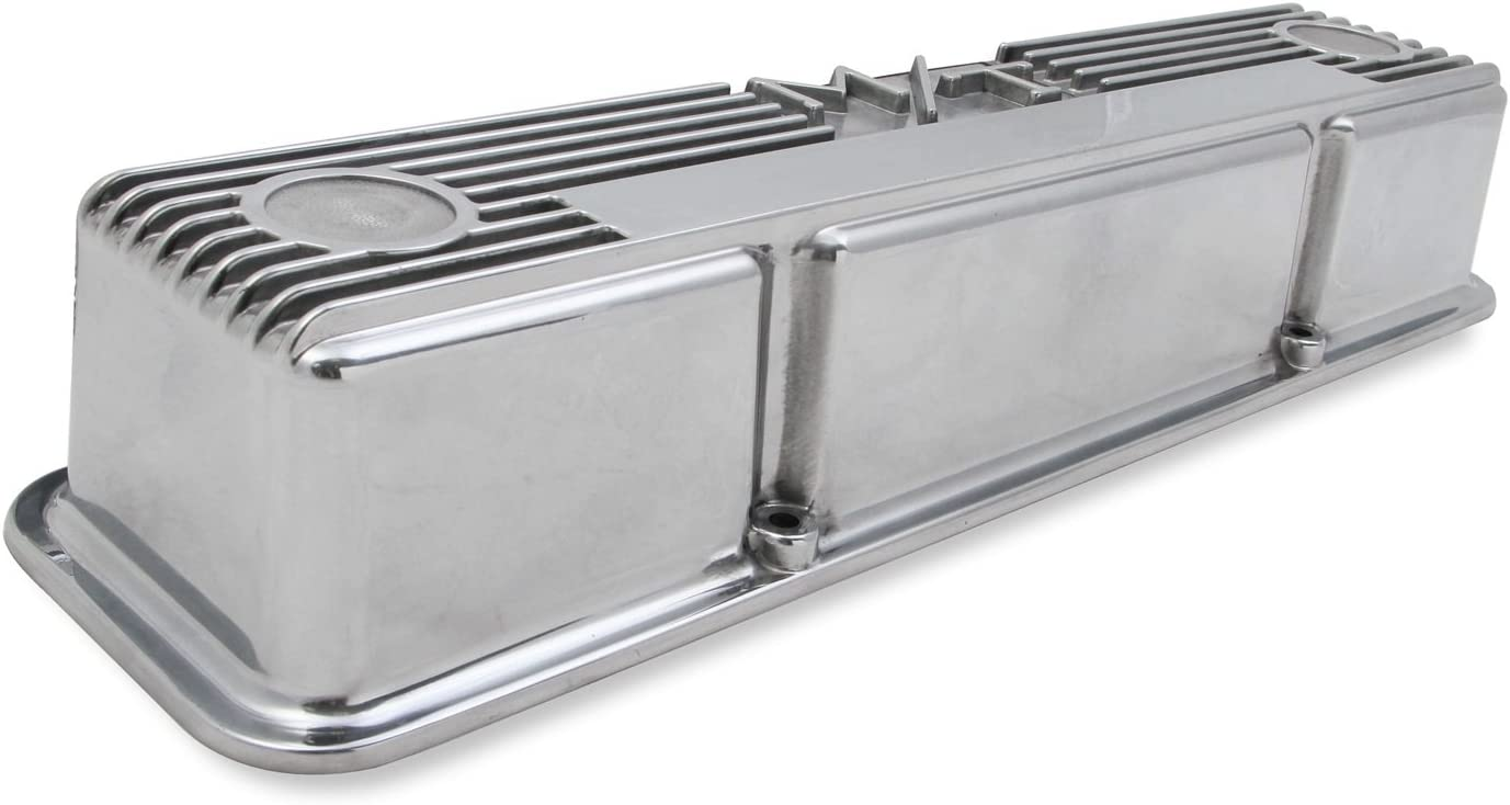 Holley 241-82 M//T Polished Valve Cover for SB Chevy