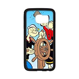 Libby Baldwin New fashion custom Popeye the Sailor Man Cartoons hight quality Laser Technology TPU & Plastic Samsung Galaxy S6 Edge Case