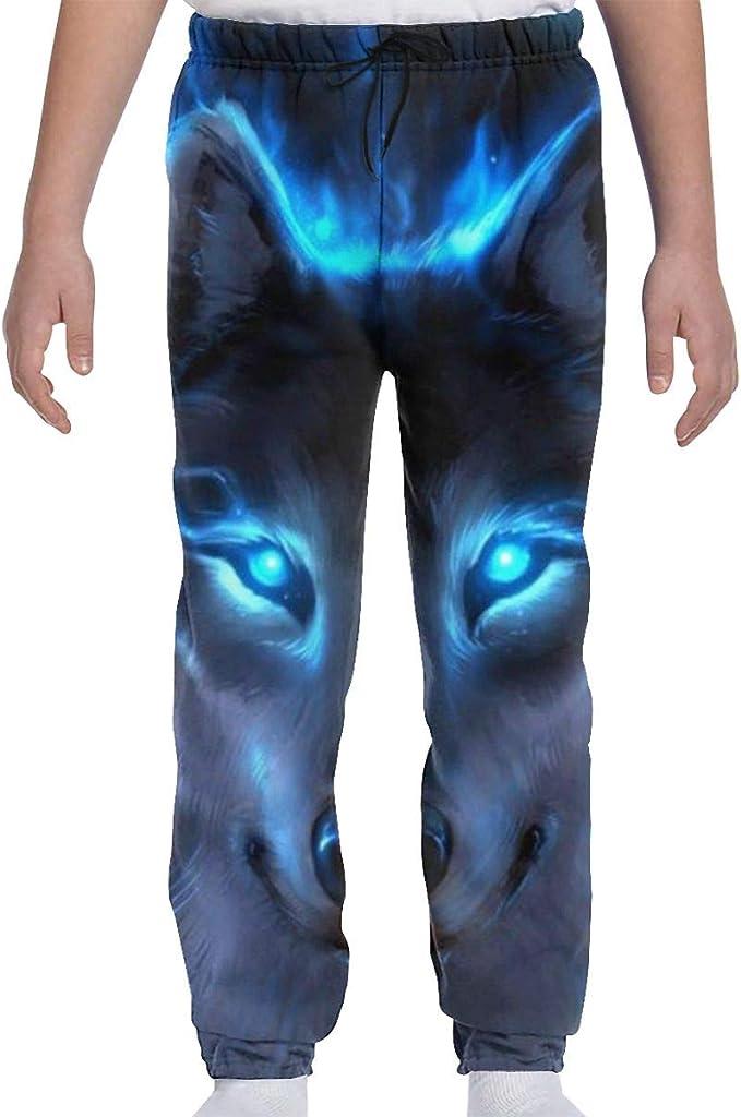 Printed Wolf Moon Howling Child Boys Girls Unisex Fashion Sweatpants