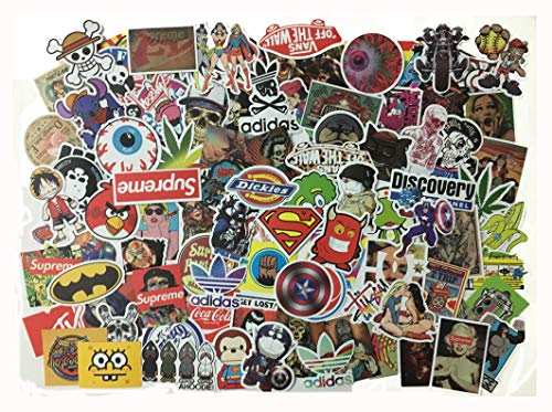 100 PCS Not Repeat Graffiti Sticker Label Fashion Label Art Car Board Waterproof Stickers(Not Random)
