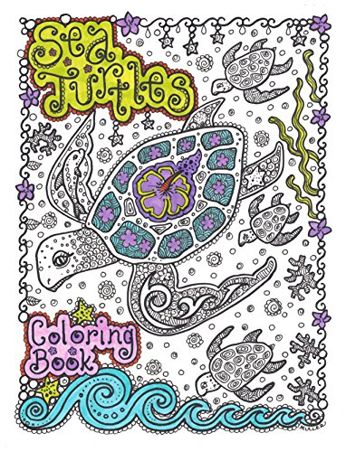 Adult Coloring Book about Sea Turtles