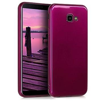 kwmobile Funda para Samsung Galaxy J4+ / J4 Plus DUOS - Carcasa para móvil en TPU Silicona - Protector Trasero en Morado Brillante