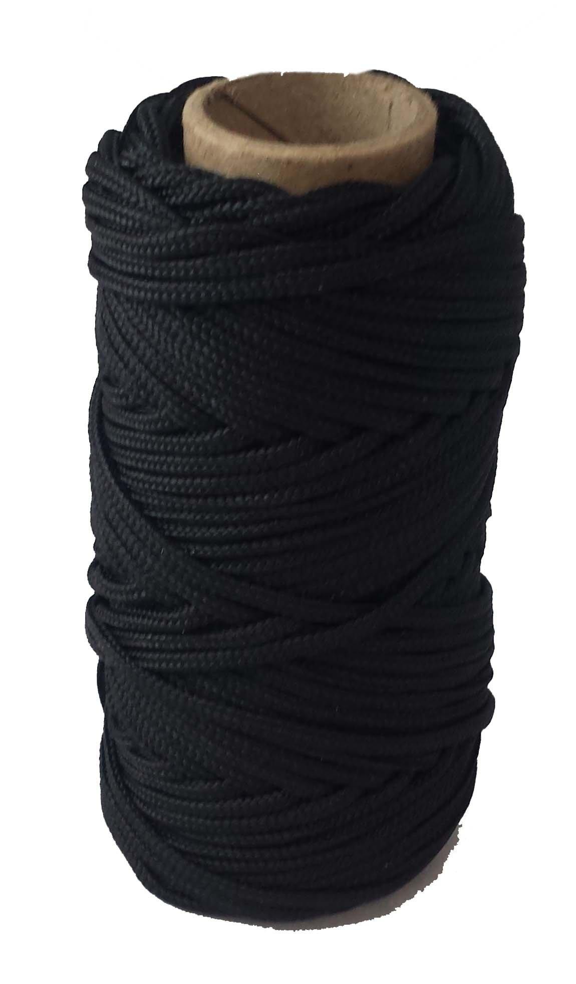 T.W Evans Cordage Co. 12-636-200#36 200' Black and Tarred Braided Nylon Decoy Line