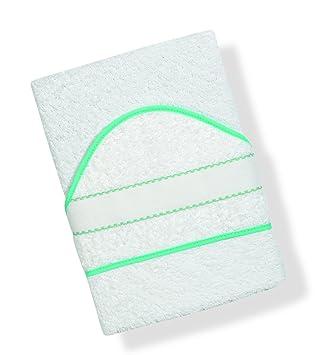 INTERBABY, Toalla de baño bordado de punto de cruz, blanco (blanco/azul): Amazon.es: Bebé