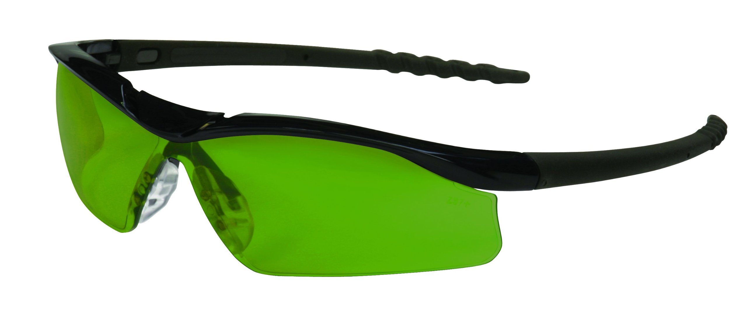 MCR Safety DL1130 Dallas Safety Glasses with Polished Black Frame and 3.0 Green Shade Lens, 12-Pair