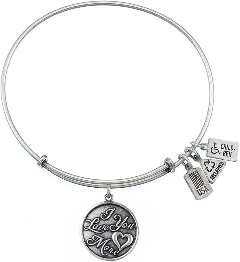 I Loved You From the Very First Day Adjustable Wire Bangle Charm Bracelet