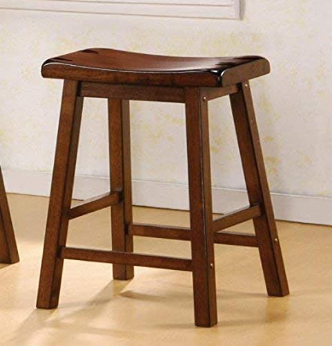 Coaster Counter Height Stool, Chestnut