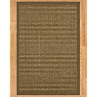 NaturalAreaRugs Sandstone Collection Sisal Area Rug, Handmade in USA, 100% Sisal, Non-Slip Latex Backing, Durable, Stain Resistant, Eco/Environment-Friendly, (3 Feet x 5 Feet) Fossil Border