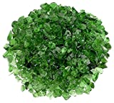American Fireglass Light Green Recycled Fire Pit Glass - Small (12-18Mm), 55 lb. Bag
